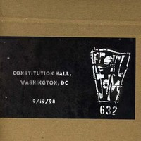 Pearl Jam: Official bootleg: constitution hall, dc 9/19/98