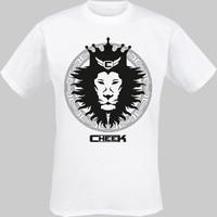 Cheek: Leijona t-paita valkoinen