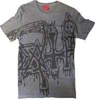 Death: Large logo - black (dye sub with black overdye)