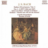 Bach, Johann Sebastian: Suites overtures vol. 1