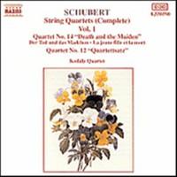 Schubert, Franz: String quartets vol 1
