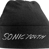 Sonic Youth: White logo (embroidered)