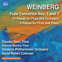 Weinberg, Mieczyslaw: Flute concertos nos. 1 & 2 - 12 miniatures - 5 pieces for flute and piano