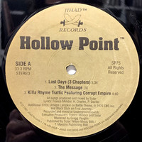 Hollow Point: Last Days (3 Chapters)