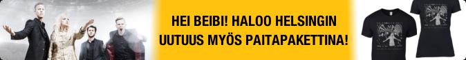 Hei beibi! Haloo Helsingin uutuus nyt myös T-paita- ja girliepakettina!